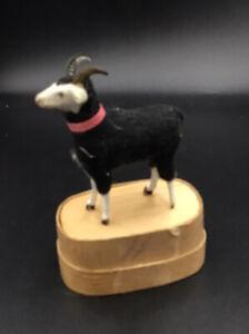 Wollschafe Wollbock Hörner  Puppenstube Krippenschaf Spielzeug  Lamm Groß
