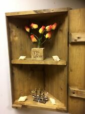 Cottage Style Wooden Rustic Country Oak HANDMADE CORNER Cupboard Unit