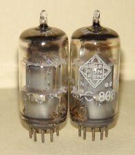 Vintage Telefunken ECC808 6KX8 Vacuum Tubes Balanced Pair