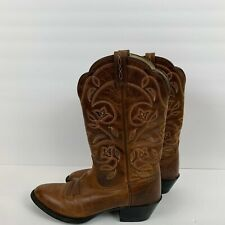 Ariat Russet Heritage R Toe Western Cowboy Boots Leather AR15702 Womens Size 7.5