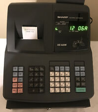 Sharp Xe A206 Electronic Cash Register Slightly Used Withmanual No Keys