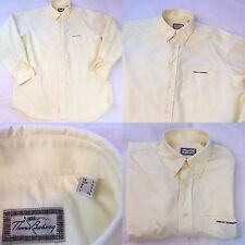 "Thomas Burberry Sport Shirt Large Yellow Long Sleeve Pit to Pit 25"" 100% Cotton"