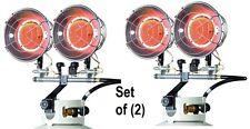 (2) ea Mr Heater F242650 8000-30000 Btu 2 Burner LP Propane Tank Top Heaters