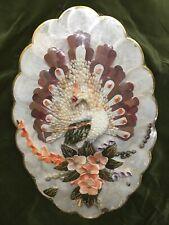 New listing Ocean Capiz Sea Shells Vintage Handmade Peacock Wall Art Beautiful