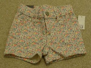 BRAND NEW WITH TAGS Girl's Floral Denim Shorts from Gap Age 4 Years