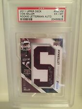 VON MILLER 2011 UPPERDECK ROOKIE Auto RC LETTERMAN #1/100 Texas A&M Error 1/1