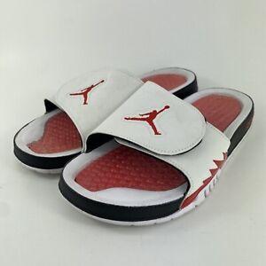 Nike Air Jordan Hydro 5 Retro Slide 'White Fire Red' 555501-101 Men's Size 10