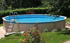 Pool Schwimmbecken extra (!!!) rund 5,50 x 1,32 m Stahlwand Skimmerset + Leiter