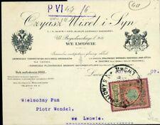 427185) Ukraine Gebührenmarke auf Rechnung der Bierbrauerei Pilsene Lemberg