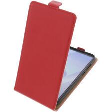 Funda para Huawei Y6 2018 flip-estilo Funda de Móvil Funda Protectora Rojo