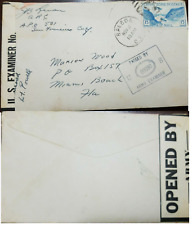 L) 1942 CANAL ZONE, BLUE, SHIP, 15C, AIR MAIL, CIRCULATED COVER FROM CANAL ZONE