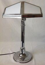 Vintage Lumess Chrome Table Lamp Switzerland Mid Century Modern