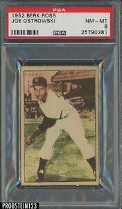 1952 Berk Ross Joe Ostrowski New York Yankees PSA 8 NM-MT