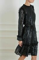 Needle and Thread GLOSS SEQUIN DRESS Black Size XSmall fits UK 4 - 6