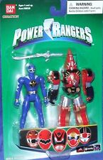 "Power Rangers Dino Thunder BLUE Ranger Mezodon 4"" FACTORY SEALED 2005 New"