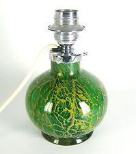 WMF Glas Lampe Tischlampe IKORA Art Deco Karl Wiedmann Entwurf ca. 1930 21,5cm