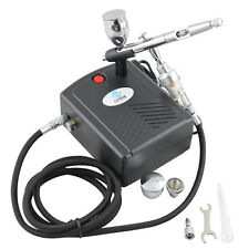 OPHIR Dual Action Airbrush Black Air Compressor Kit for Hobby Tattoo Cake Paint