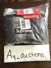 Supreme The North Face Snakeskin Flyweight Duffel Bag Black Grey Ss18 *IN HAND*