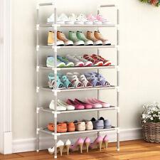 6 Tier Shoe Rack Storage Shelf Stand Organiser Lightweight Footwear Holder Home
