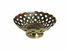 Brass Green Fruit Decorative Bowl 15 cm Showpiece Gift Home Decor