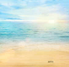 10X10FT Beach Scenery Vinyl photography Backdrop Background studio prop ZZ771