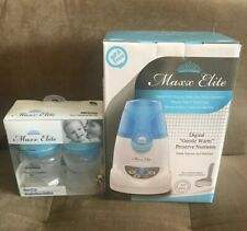 "New Maxx Elite ""Digital Gentle Warm"" Bottle Warmer & Sterilizer + 5ozX2 Bottles"