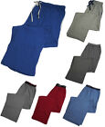 Hanes Mens Solid Knit Sleep Lounge 60/40 Cotton Poly Blend Elastic Waist Pants