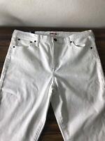 Johnny Was Womens Jeans Cotton Blend Stretch Mid Rise Skinny White 30 JW