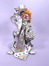 New Leonardo Argenti Silver Clown Italy Hand Painted Flori with Tie and Flowers