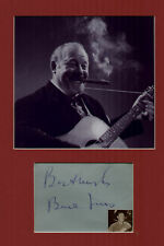 BURL IVES singer / actor signed page + PIC in display#red UACCRD retiring