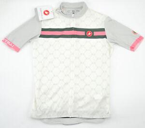 Castelli Atelier Women's Cycling Short Sleeve Jersey Small Ivory White FZ Bike