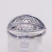 stamped 925 925 band with \u201cXOXO\u201d girl boy figures embossed vintage sterling silver handmade ring Size 7.5