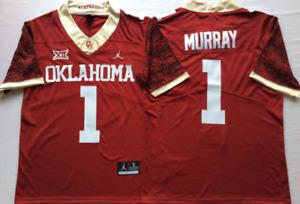 NEW Mens Oklahoma Sooners Red Limited #1 MURRAY Football Custom Jersey