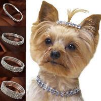 New Bling Dog Cat Rhinestone Collar Pet Crystal Diamond Elasticity Necklace