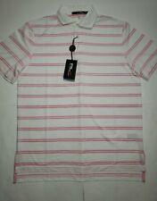 NWT $89.50 Ralph Lauren RLX Golf Polo Shirt Size L Magnolia Lane Pink Stripe
