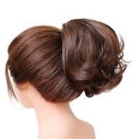 Wavy Scrunchies Hair Bun Extension Cover Hairpiece Big Chignon Hepburn Style