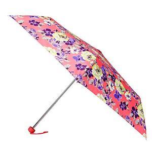Totes Women's Mini Umbrella In Pink Cabbage Rose