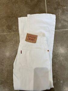 Ladies Levi Strauss Red Tab 529 Bootcut - W26/27 L26 - White