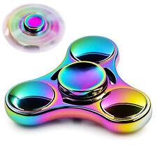 Aluminum Metal Tri Hand Finger Spinner Fidget EDC Desk Toy Gyro Rainbow-4