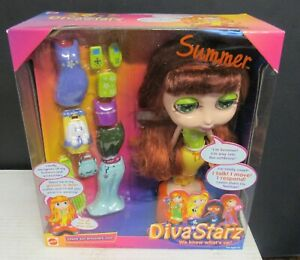 2000  Mattel Diva Starz Summer  Interactive Talking Doll Figure New Sealed