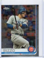 2019 TOPPS CHROME BASEBALL CARD # 130 - ANTHONY RIZZO - CHICAGO CUBS