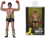 """ROCKY III/ FIGURA ROCKY BALBOA 18 CM- 40TH ANNIVERSARY NECA 7"""" IN BOX MODEL. B"""