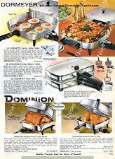 1964 Vintage Ad Westinghouse Dormeyer Presto Dominion Electric Skillet Griddle
