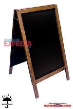 Very Large Heavy Duty Waterproofed Chalkboard A Frame Brown 1100mm x 610mm