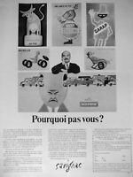 PUBLICITÉ DE PRESSE 1968 SAVIGNAC POURQUOI PAS VOUS ? - FAMOUS ARTISTS SCHOOL