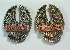 Vintage Suzuki Motorcycle Pin Eagle Wing Pin (Choice of 1-Gold or Silver tone)
