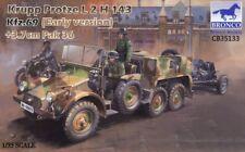 BRONCO MODELS KRUPP PROTZE L2H 143 KFZ.69 W/3.7cm PAK 36 1:35 CB35133