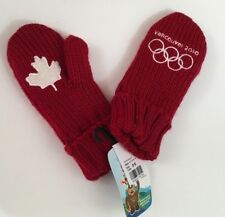 Vancouver Olympics 2010 Red Mittens Gloves Youth One Size New NWT