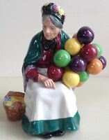 Vintage Royal Doulton The Old Balloon Seller Lady Figurine HN1315