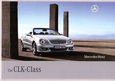 Mercedes-Benz CLK Cabriolet 2009 UK Market Sales Brochure 200 280 320 500 63 AMG